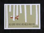 "Postkarte ""wild and free"""