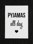 "Postkarte ""Pyjamas"""